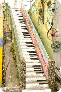 Escadaria do piano, Valparaíso, Chile