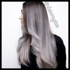 black to grey ombre hair tumblr - Google Search