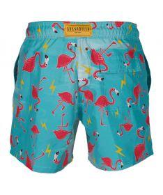 Granadilla Swimwear Cape Town. Mens swim shorts, Flamingo Friends