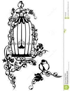 Images For > Open Birdcage Tattoo Sketch