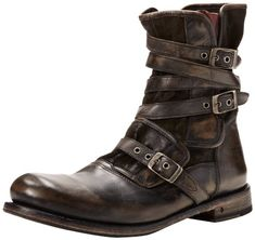 John Varvatos Men's EG Triple Buckle Boot: Shoes