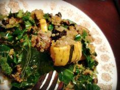 Harvest Quinoa Salad with Delicata Squash, Pistachios, & Dried Cherries
