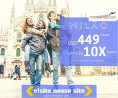 MILÃO a partir de $449  Taxas em até 10x s/juros... Compre Agora: http://voorapido.com  Saídas de São Paulo! Programe logo sua viagem conosco... Promoção até 25/08/2016  Entre em contato conosco estamos com várias promoções. E-mail: atendimento@voorapido.com Fone: 051 3677-1079 WhatsApp: 051 9391-3774  verificar disponibilidade de datas. #viajar #milao #italia #promo #voorapido