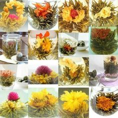 chinese flavored blooming tea flower, beautiful blooming tea products