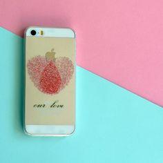 FINGERPRINT LOVE  PHONE CASE