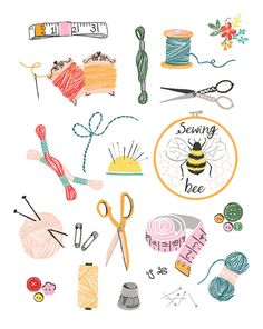 New embroidery cute ideas sweets ideas Journal Stickers, Planner Stickers, Cute Illustration, Watercolor Illustration, Buch Design, Illustrations, Cute Stickers, Cute Drawings, Clipart