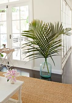 Palm leaves & fronds for a green & tropical decor touch - palm leaves . - Palm leaves & fronds for a green & tropical decor touch – Palm leaves & fronds for a green & trop - Tropical Bedrooms, Tropical Home Decor, Tropical Houses, Tropical Interior, Tropical Colors, Hawaiian Home Decor, Tropical Leaves, Coastal Style, Coastal Decor