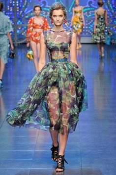 DG 2012 collection light printed vegetable dress (y)