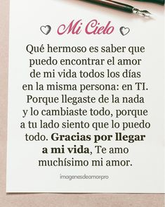 Love quotes for him - Carta para el amor de mi vida Love Quotes For Boyfriend, Love Quotes For Him, Love Poems, Amor Quotes, Life Quotes, Relationship Quotes, Ex Amor, Love Phrases, Special Quotes