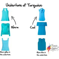 How to choose the undertone of turquoise and other blues