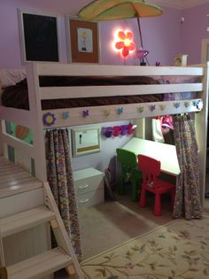 Art Studio Loft Bed | Do It Yourself Home Projects from Ana White
