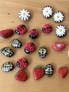 Pebble fridge magnets