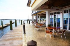 Riverhouse Reef &Grill beautiful restaurant on the Palmetto marina 995 Riverside Dr (941)729-0616 We have not eaten here since it changed hands.