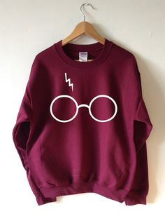 Harry Potter Sweatshirt Lightning Brillen Sweater von Tmeprinting