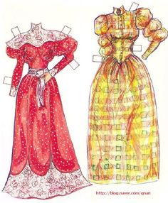 Victorian Roses and Lace Paper Dolls by Carilyn Teichman: (4 of 9)