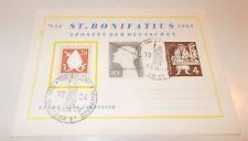 Sonderkarte  St Bonifatius Mi 199 ERSTTAG + Zusatzfr. Mi 165 + 198 5.6. 1954