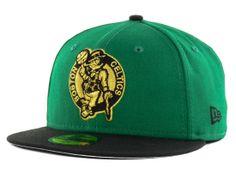44d9f274622cb Boston Celtics New Era NBA Hardwood Classics Metallic Patch 59FIFTY Cap  Fitted Baseball Caps