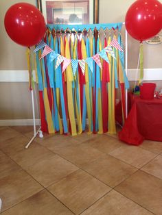 Carnival photo booth, PVC pipes, plastic table covers and props prints from Etsy