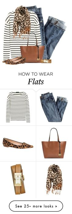 """Mixed Prints"" by cindycook10 on Polyvore featuring J.Crew, Michael Kors, Tory Burch and BP."