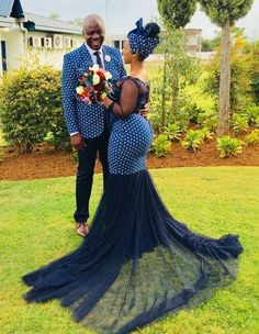 Shweshwe Traditional Wedding Dresses For South African 2019 - Pretty 4