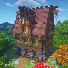 """MythicalSausage on Instagram: """"This was an awesome fantasy house tutorial I did a little bit ago!!! I love in 2020 Minecraft designs Minecraft projects Minecraft shops"""