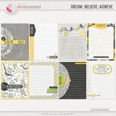 Dream Believe Achieve - Journal Cards