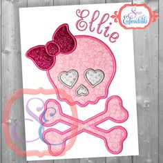 Black Friday sale Glam Skull Applique Design For Machine Embroidery INSTANT DOWNLOAD by SewEmbroidable on Etsy https://www.etsy.com/transaction/1085890169
