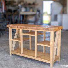 DIY Bathroom Vanity Makeover | Diy End Tables, Diy Table Saw, Diy Dining Table, Console Table, Scrap Wood Projects, Woodworking Projects, Woodworking Plans, Woodworking Shop, Diy Projects