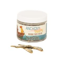 These sea-salted dried anchovies are simple and delicious. You can feed as a treat or reward. They come packed in an airtight plastic jar for convenient use a Cat Gifts, Coffee Cans, Yummy Treats, Pet Supplies, Goodies, Jar, Food, Popular, Products