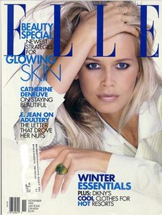 Claudia Schiffer - US Elle November 1995 cover by Gilles Bensimon