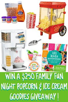 Enter To Win a family fun night Popcorn &  ice cream Goodies Giveaway! TERRIFIC GIVEAWAY! Enter here http://mypinterventures.com/250-family-fun-night-popcorn-ice-cream-giveaway/#comment-6191 For your chance to Win! I Definitely Entered! I WANT TO WIN THIS GIVEAWAY SO VERY, VERY BAD!!! Thanks, Michele :)