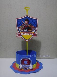 Elo7 | Produtos Fora de Série Paw Patrol Party, Paw Patrol Birthday, Paw Patrol Decorations, 3rd Birthday, Birthday Parties, Holidays And Events, Party Themes, Ideas, Birth