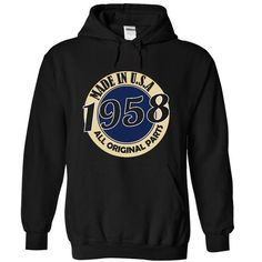 Made IN USA 1958 - #unique gift #shower gift. HURRY:   => https://www.sunfrog.com/LifeStyle/Made-IN-USA-1958-9088-Black-18120627-Hoodie.html?id=60505