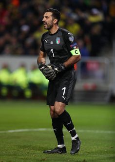Gianluigi Buffon of Italy during the FIFA 2018 World Cup Qualifier Play-Off: First Leg between Sweden and Italy at Friends arena on November 10, 2017 in Solna, Sweden.