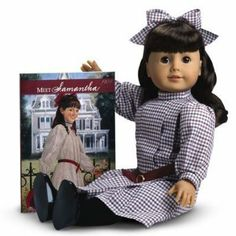 The American Girl Samantha Doll & Paperback Book is an amazing doll for a young girl. The doll opens the world of play with Samantha and the authentic styles from 1904. It features a checked taffeta dress, black shoes and long black stockings. The head and limbs are made of smooth vinyl. The toy can be used for hundreds of play times and be treasured for many years to come.   Read our full review at http://saintnicktoys.com/american-girl-dolls/american-girl-samantha-doll-paperback-book/