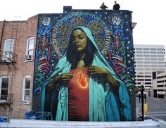 Massive Street Art Mural in Salt Lake City 3d Street Art, Murals Street Art, Amazing Street Art, Street Art Graffiti, Street Artists, Amazing Art, Awesome, Mural Painting, Mural Art