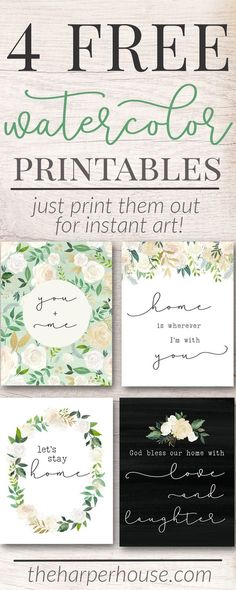 Free Printables - Let's Stay Home