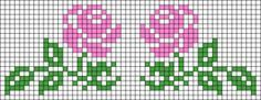 Alpha friendship bracelet pattern added by neopets. Cross Stitch Borders, Cross Stitch Flowers, Cross Stitch Designs, Cross Stitching, Cross Stitch Patterns, Bead Loom Patterns, Beading Patterns, Knitting Patterns, Friendship Bracelet Patterns