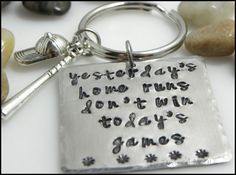 hand stamped baseballgift for himgift for by TaylordMetals on Etsy, $16.00