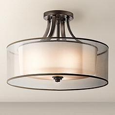 "Kichler Lacey 20"" Wide Bronze Ceiling Light Fixture"