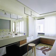 Helle Architektur - Patrick Gmür - Zürich Double Vanity, Bathroom, Spa, Architecture, Homes, House, Washroom, Full Bath, Bath