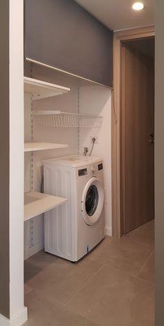 via Jenner by studioQ Modern Laundry Rooms, Laundry Room Layouts, Laundry Room Bathroom, Laundry Room Organization, Laundry Room Design, Small Bathroom, Laundry Cupboard, Dressing Room Design, Vintage Laundry