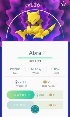 Pokemon Go: Abra