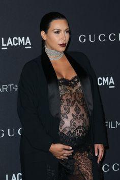 O filho de Kardashian com o rapper Kayne West deverá nascer no final do mês de dezembro