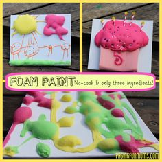 Create your own 3D artwork using this easy DIY Foam Paint - just three ingredients needed!