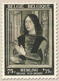 Belgian Stamps Exhibition Hans Memling at Brugge.Diptiek Maarten Van Nieuwenhoven