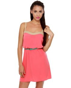 Cool Weekend Forecast Belted Coral Dress... My Style Check more at http://fashionie.top/pin/40353/