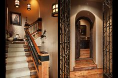 The wrought iron doors are awesome!