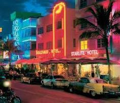 Miami,, so amazing there!  i love all the pretty lights, music, everything!