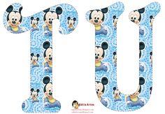 Festa Mickey Baby, Mickey Party, Letras Do Mickey, Abecedario Baby Shower, Alfabeto Disney, Boy Fonts, Mickey Baby Showers, Mickey 1st Birthdays, Baby Mouse